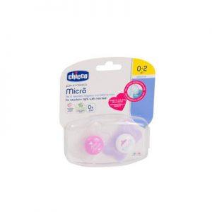 Chicco Physio Soother Micro 0-2 Months 2 Pieces + Case