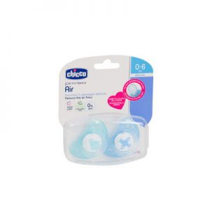Chicco Physio Air Soother 0-6 Months Blue 2 Pieces + Case